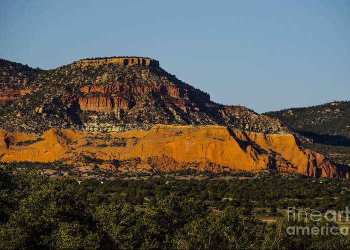 New Mexico Greeting Card featuring the photograph Red And Green Plateau New Mexico by Deborah Smolinske