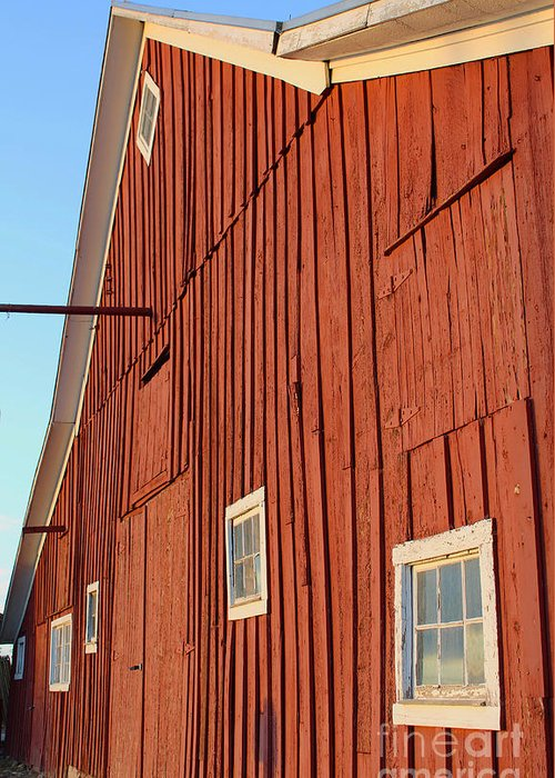 Barn Greeting Card featuring the photograph Red Barn by Steven Parker