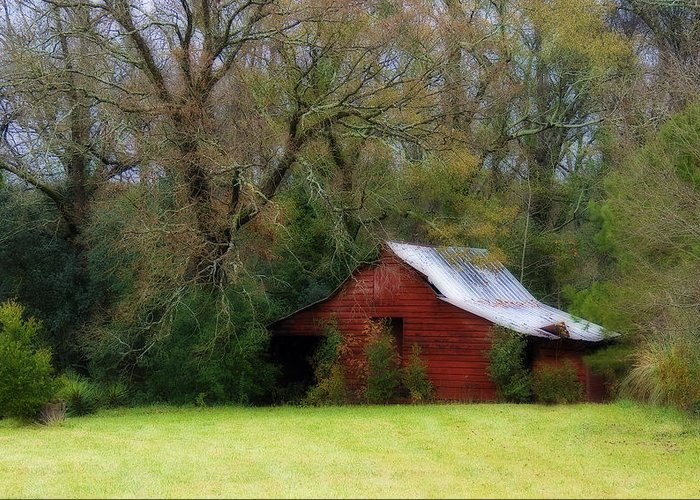 Red Barn Greeting Card featuring the photograph Red Barn by Steven Richardson