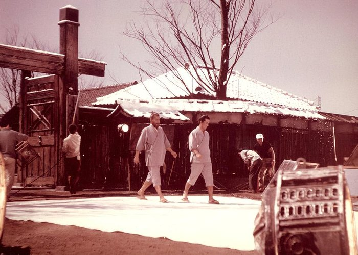 Akira Kurosawa Greeting Card featuring the photograph Red Beard Tishiro Mifune by Dan Twyman