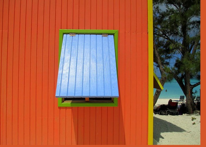 Caribbean Corner Greeting Card featuring the photograph Red Cabin by Randall Weidner