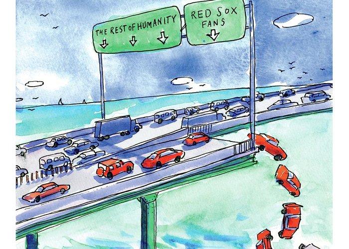 Highway Drawings Greeting Cards