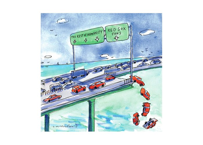 Highway Drawings Greeting Cards