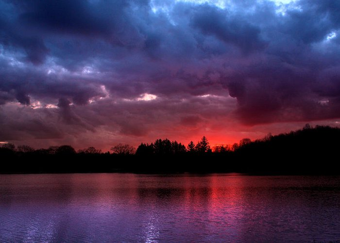 Dramatic Greeting Card featuring the photograph Red Dawn by Rob Blair