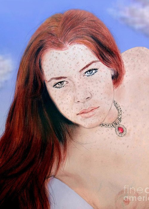 Redhair and freckles nude