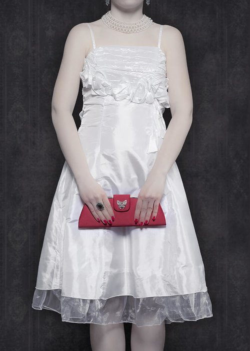 Woman Greeting Card featuring the photograph Red Handbag by Joana Kruse