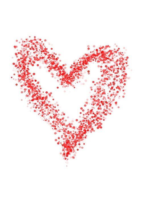 Heart Greeting Card featuring the digital art Red Heart by Mariola Szeliga