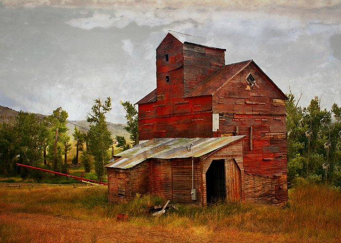 Historic Building Greeting Card featuring the photograph Red Mill Montana by Marty Koch