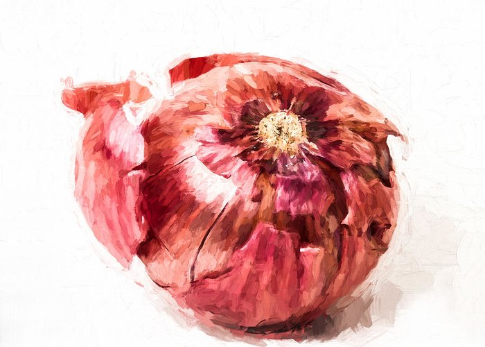 Onion Greeting Card featuring the photograph Red Onion by Vivian Frerichs