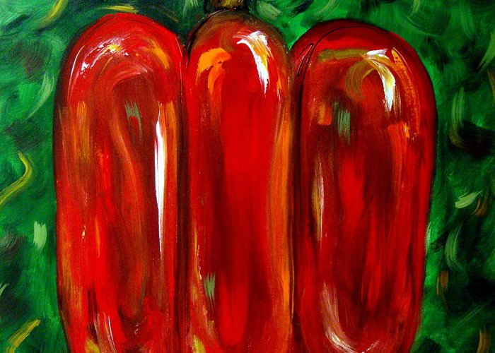 Red Pepper Greeting Card featuring the painting Red Pepper by Cynthia Hudson