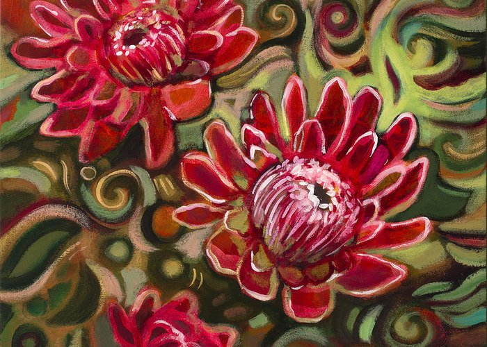 Protea Greeting Cards