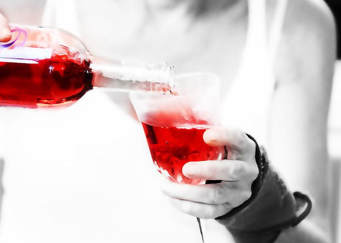 Wine Greeting Card featuring the photograph Red Red Wine by Jenny Rainbow