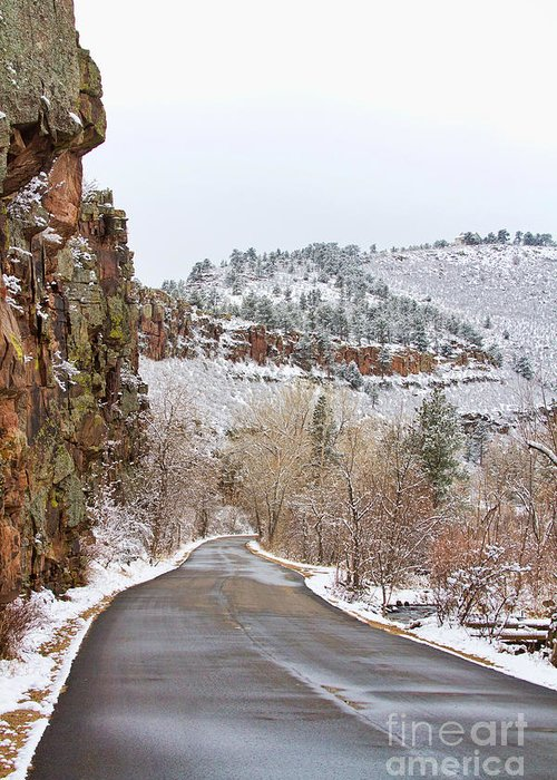 Red Rocks Greeting Card featuring the photograph Red Rock Winter Drive by James BO Insogna