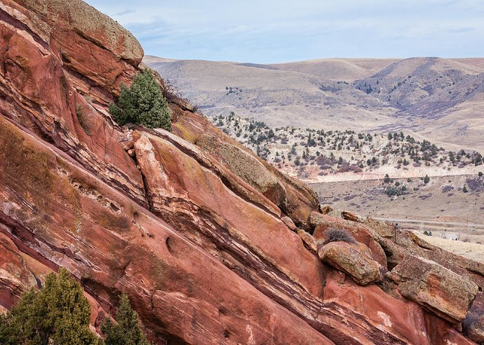 Colorado Greeting Card featuring the photograph Red Rocks 2 by Karen Saunders