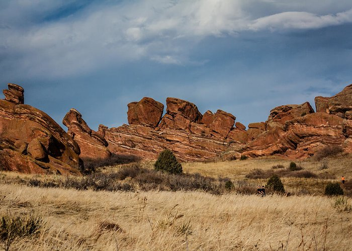 Colorado Greeting Card featuring the photograph Red Rocks Geometrics by Karen Saunders