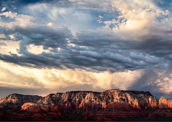 Landscape Greeting Card featuring the photograph Red Rocks Of Sedona by Dave Bowman