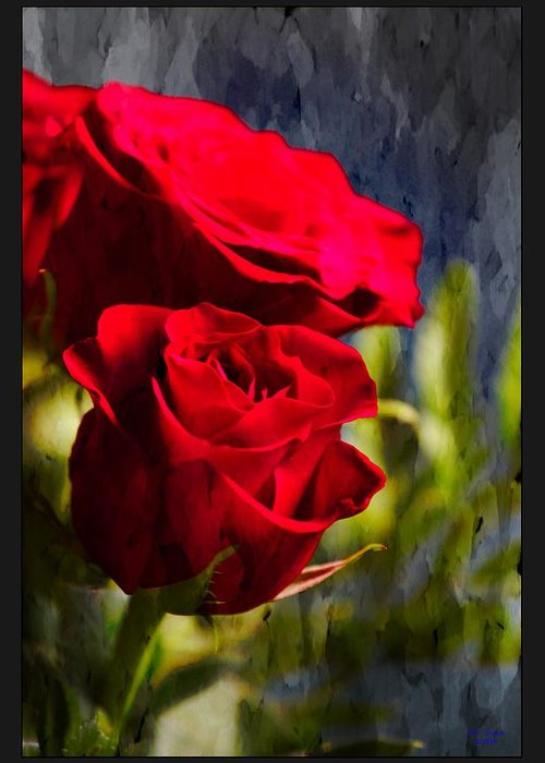 Red Greeting Card featuring the photograph Red Rose Floral by PM Staab