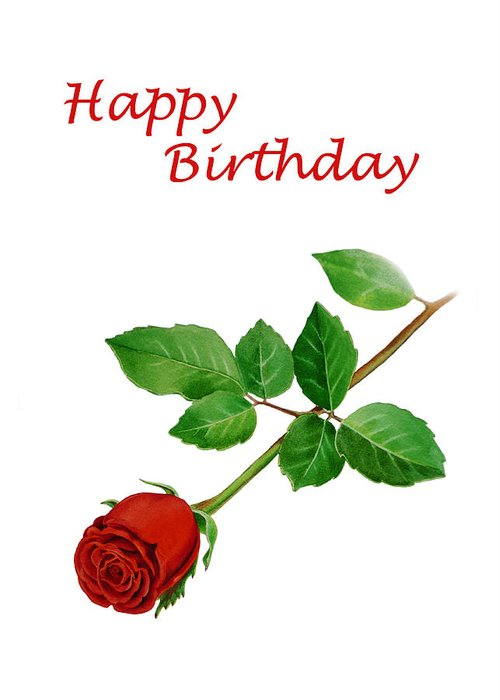 Red Rose Happy Birthday Greeting Card For Sale By Irina Sztukowski