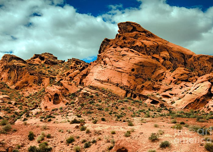 Valley Of Fire Greeting Card featuring the photograph Red Sandstone by Robert Bales