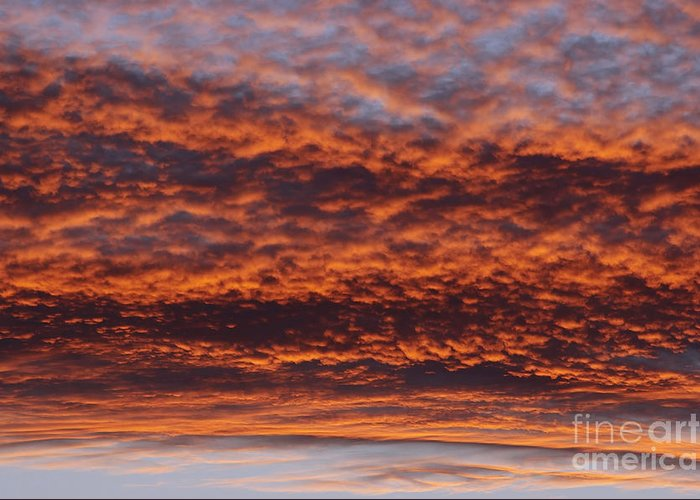 Rosy-sky Greeting Card featuring the photograph Red Sky by Michal Boubin