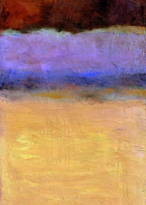 Lake Greeting Card featuring the painting Red Sky by Michelle Calkins