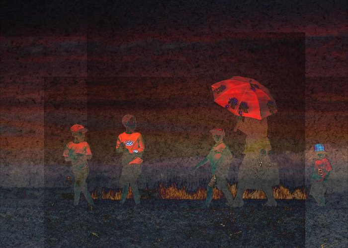 Red Umbrella Greeting Card featuring the photograph Red Umbrella by Ernestine Manowarda