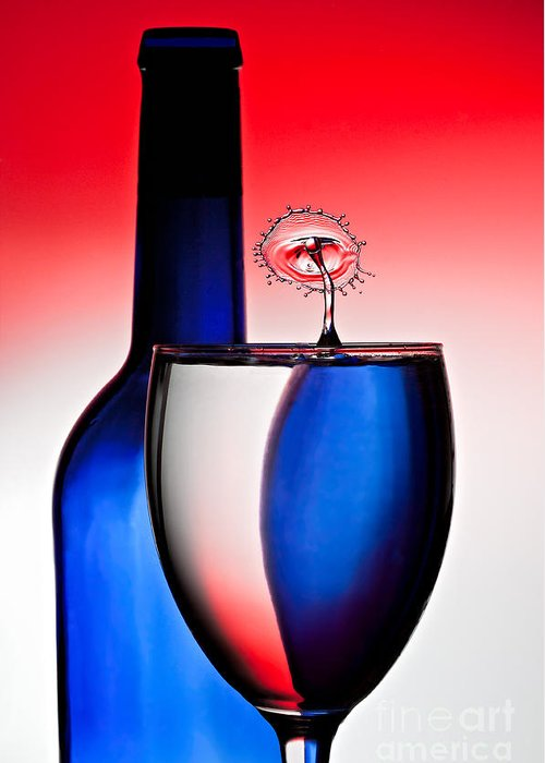 Water Greeting Card featuring the photograph Red White And Blue Reflections And Refractions by Susan Candelario