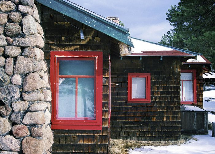 Cabin Greeting Card featuring the photograph Red Windows by Matt Swinden