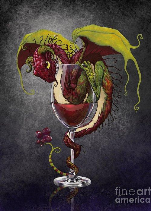 Wine Digital Art Greeting Cards