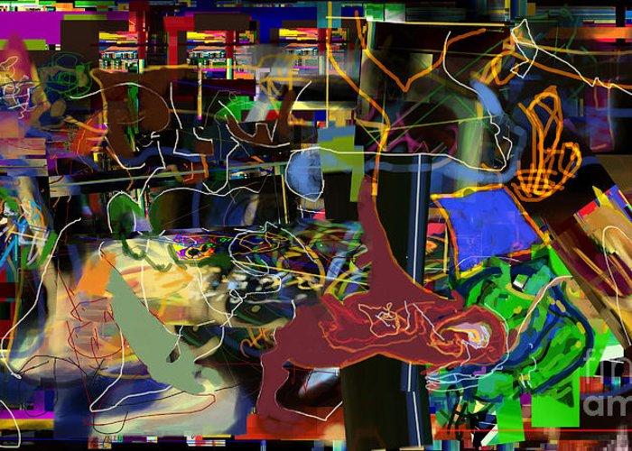 Redemption Greeting Card featuring the digital art Redemption Prayer 14m by David Baruch Wolk