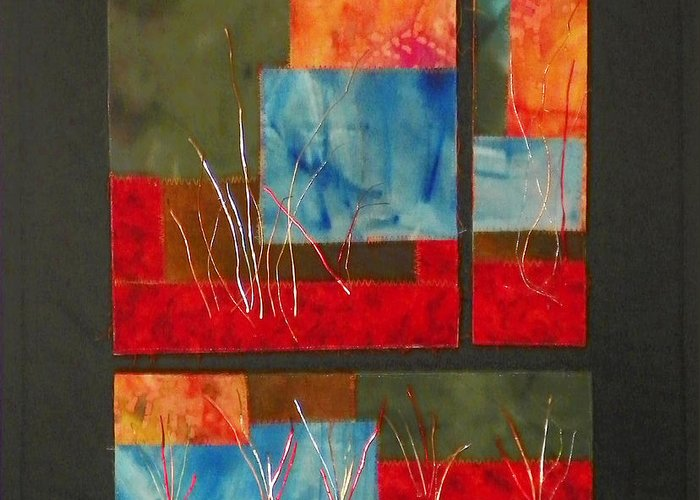 Nature Greeting Card featuring the mixed media Reeds by Jenny Williams