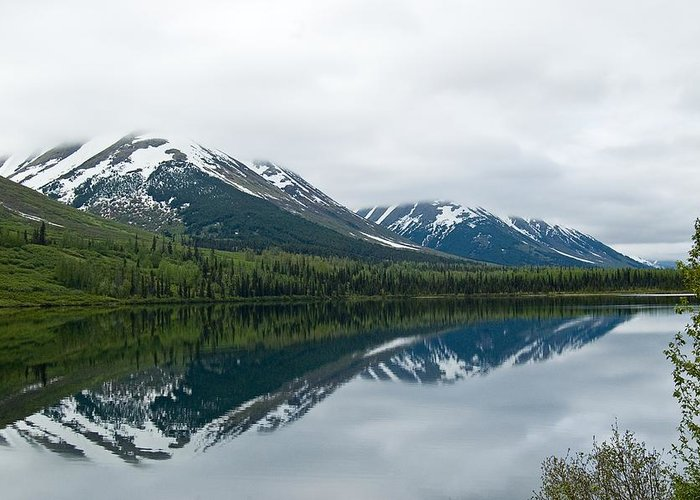 Montana Greeting Card featuring the photograph Reflection Montana by Jeffrey Akerson