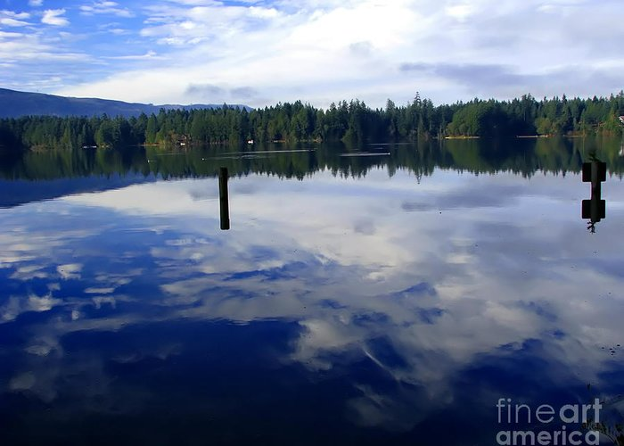 Reflection Of Natures Beauty By Laurie Wilcox Photography Greeting Card featuring the photograph Reflection Of Natures Beauty by Laurie Wilcox