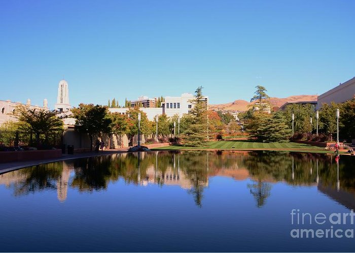 Reflection Greeting Card featuring the photograph Reflection Pond by Kathleen Struckle