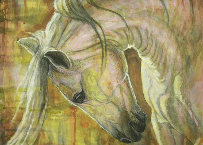 Abstract Horses Greeting Cards