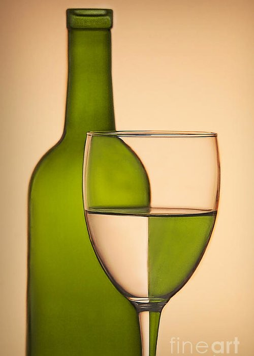 Bottle Greeting Card featuring the photograph Reflections And Refractions by Susan Candelario