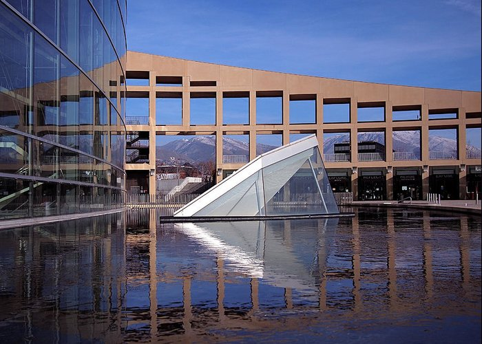 Salt Lake City Greeting Card featuring the photograph Reflections At The Library by Rona Black