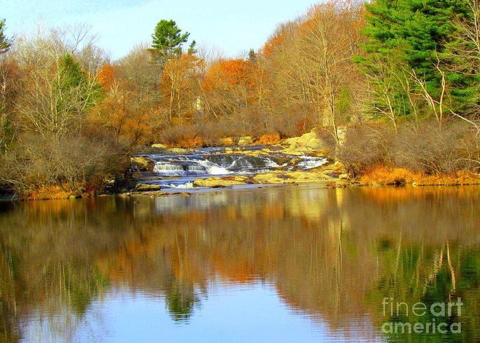 Royal River Greeting Card featuring the photograph Reflections by Elizabeth Dow