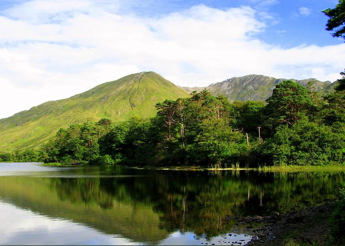 Mountain Greeting Card featuring the photograph Reflections Ireland by Annie DeMilo