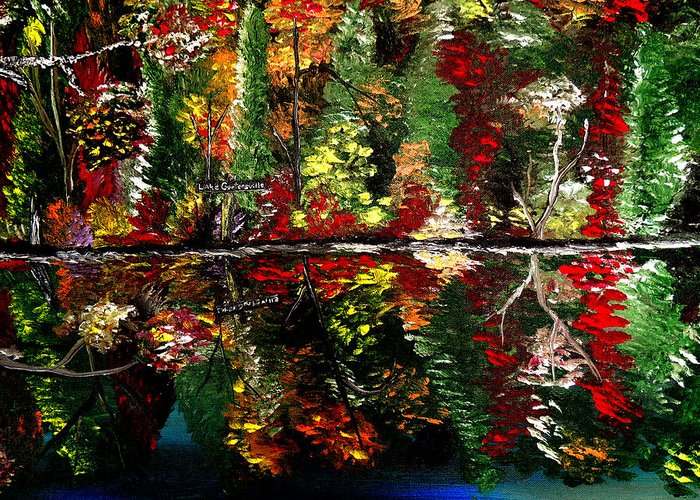 Fall Greeting Card featuring the painting Reflections Of Fall by Mark Moore