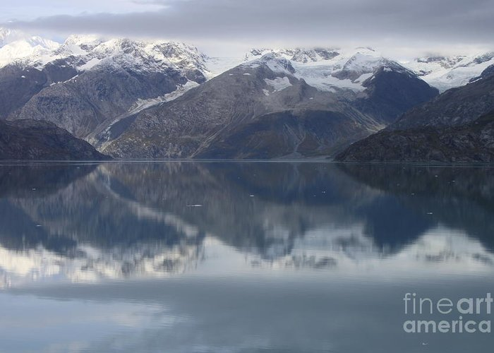 Glacier Bay Greeting Card featuring the photograph Reflections Of Glacier Bay Alaska II by Gene Treants