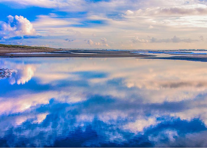 Beach Greeting Card featuring the photograph Reflections On The Beach by Alex Hiemstra