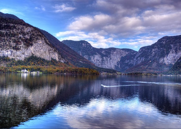 Europe Greeting Card featuring the photograph Reflectons Of Hallstatter See I by Matt Swinden