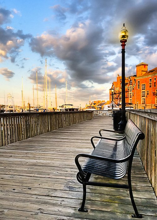 Boston Greeting Card featuring the photograph Relax And Watch The Sunset In Boston by Mark E Tisdale