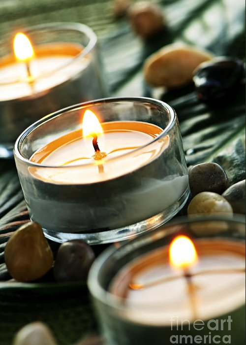 Candles Greeting Card featuring the photograph Relax by Elena Elisseeva