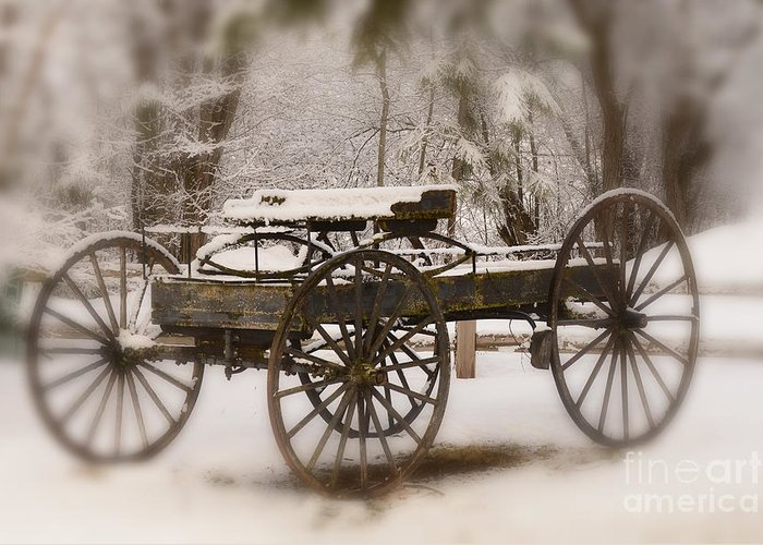 Wagon Greeting Card featuring the photograph Relic of a Time Gone By by Dennis Hammer