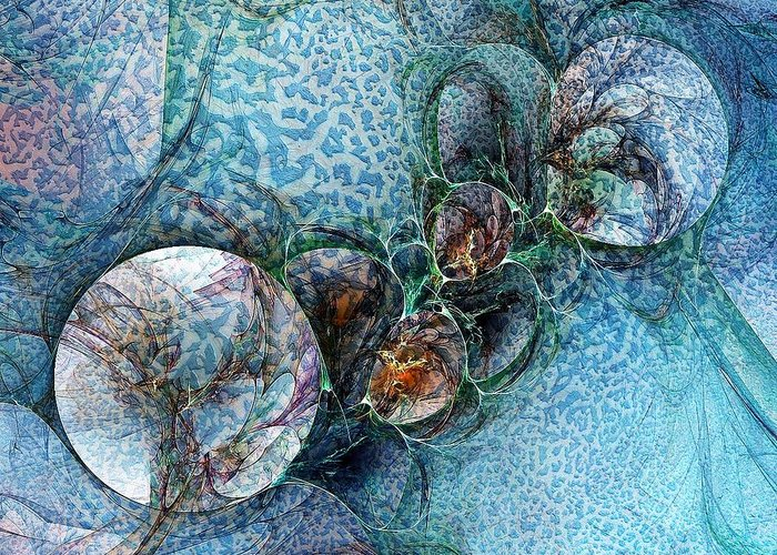 Digital Art Greeting Card featuring the digital art Remains Of A Mosaic by Amanda Moore