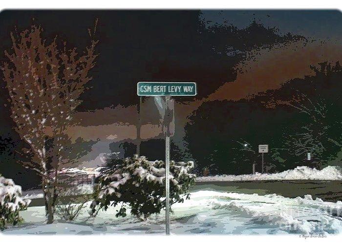 26 Yankee Infantry Division Greeting Card featuring the digital art Remember Bert V1 by Megan Dirsa-DuBois