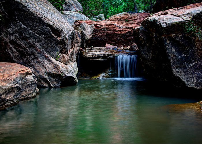 Water Greeting Card featuring the photograph Remote Falls by Chad Dutson