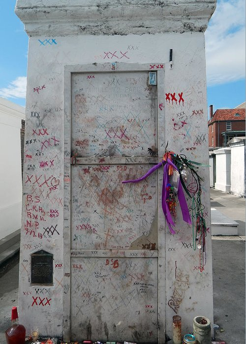 Reputed Tomb Of Voodoo Queen Marie Laveau Greeting Card ...